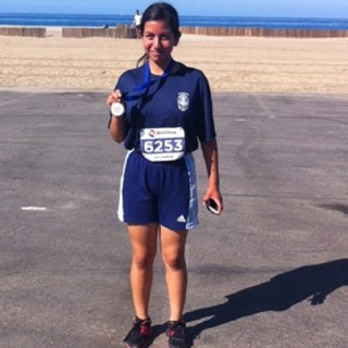 Cadet Cindy Ortega came in first place in her age category