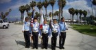 Color Guard At Muscle Beach